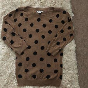 Old Navy brand size XS polka dot light sweater